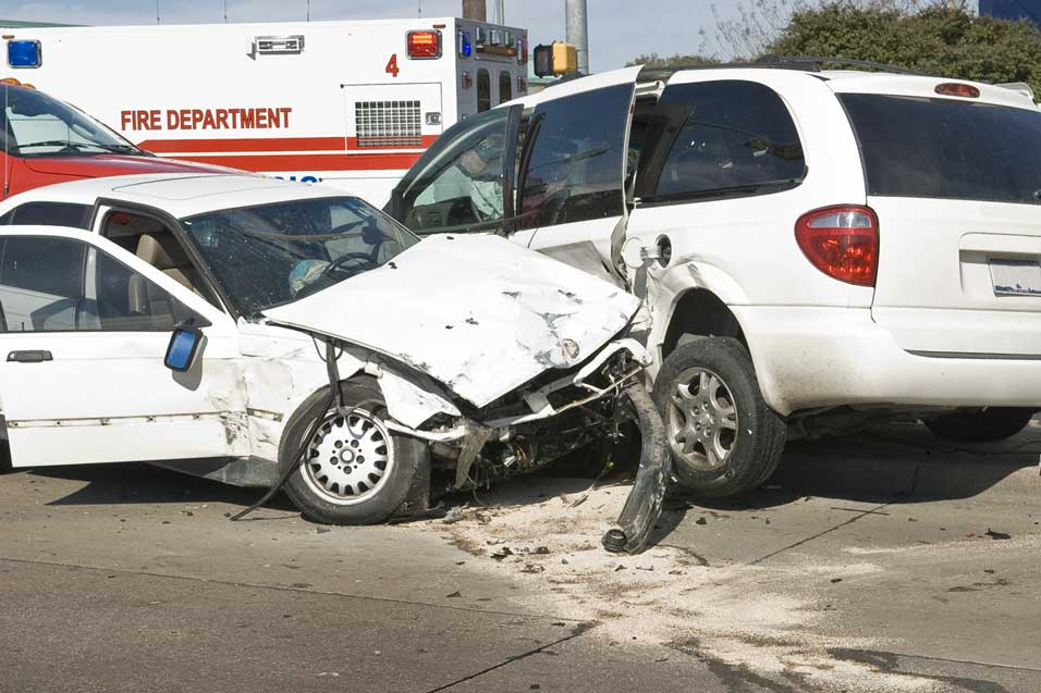 image of two crashed cars