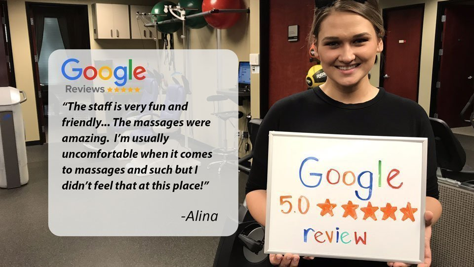 Google review of NW Injury & Rehab